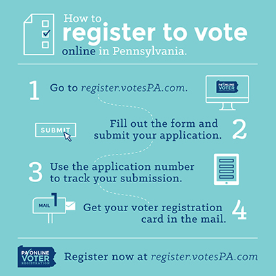 online voter registration now available in pa - bucks county free