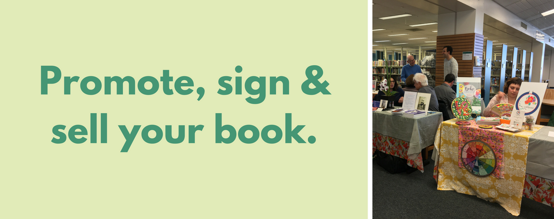 Promote, Sign and sell your book.