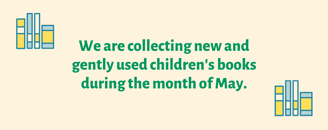 Collecting new and gently used children's book in May